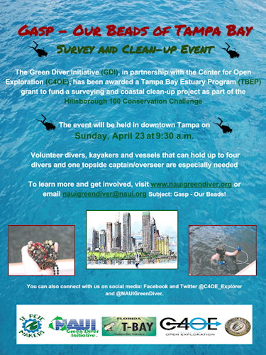 Gasp—Our Beads of Tampa Bay Coastal Clean-Up Project | NAUI ...
